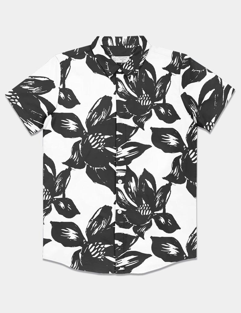 Camisa White Flowers